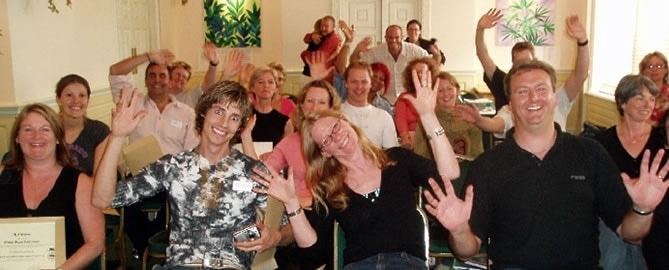 NLP World attendees enjoying our seven Day NLP Practitioner Course