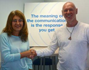 Terry with Eva Minkov